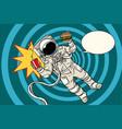pop art astronaut street food vector image vector image