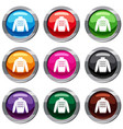 pullover set 9 collection vector image vector image