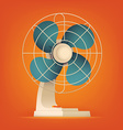Retro Fan Icon vector image