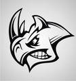 Rhino Head Tattoo vector image vector image