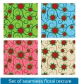 Seamless abstract flowers pattern vector image vector image