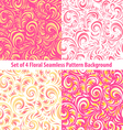 Seamless floral backgrounds and borders Set of vector image vector image
