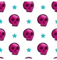 Seamless pattern with cartoon skulls vector image vector image