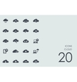 Set of cloud icons vector image vector image