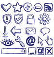 Set of nternet web icons vector image vector image