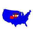 state of colorado vector image vector image