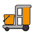 toilet trolley isolated icon vector image