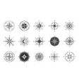 wind rose compass signs nautical instruments for vector image