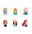 women young avatar design vector image