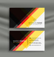 yellow red and black creative business card design vector image vector image