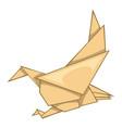 eagle origami icon cartoon style vector image