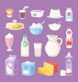 milk everyday products vector image