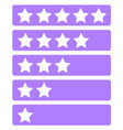 forum rank icon set vector image