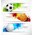 Set of sport banners vector image
