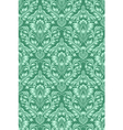Damask seamless pattern repeating background Green vector image
