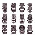 monochrome set of tribal god vector image