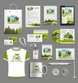 advertising promo item for landscape design vector image vector image
