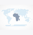 africa continent on the world map vector image vector image