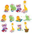 animal cartoons vector image vector image