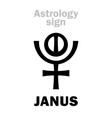 astrology planet janus vector image vector image