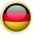 badge design for germany flag vector image vector image