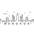 bangkok outline icon can be used for web logo vector image
