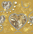 baroque jewellery ornamental 3d seamless pattern vector image