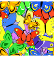 butterfly tile vector image vector image