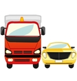 Cargo and passenger car vector image vector image