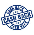 cash back blue round grunge stamp vector image vector image