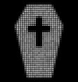 coffin halftone icon vector image