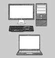 Computer and Laptop vector image