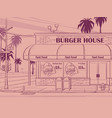 contour pink colored background burger vector image vector image
