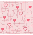 Creative Valentines Day Seamles Pattern vector image vector image