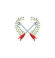 crossed arrows antique medieval flat design vector image