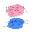 cut nails vector image vector image