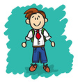 Cute cartoon little boy vector image vector image
