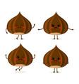 cute cartoon nuts set vector image vector image