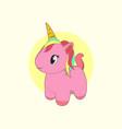 cute pink unicorn vector image vector image