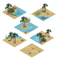 desert landscape isometric tile set vector image