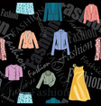 fashion cloth seamless pattern retail women dress vector image vector image