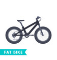 fat bike in flat style isolated on white vector image vector image
