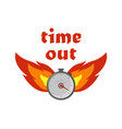fire time icon on a white background in flat style vector image vector image