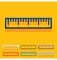 Flat design ruler vector image