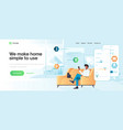 flat modern design smart home vector image vector image