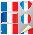 France flags set vector image