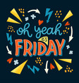 friday day lettering vector image