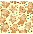 Gingerbread seamless pattern