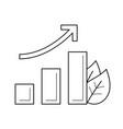 growth arrow line icon vector image