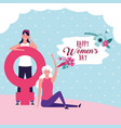 happy women day card vector image vector image